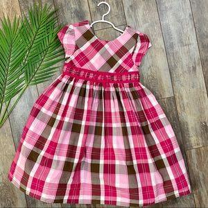 Gymboree Dress Girls Plaid Size 7 Pink Lined